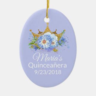 Ornamento del recuerdo de Quinceañera de la foto