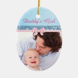 Ornamento del recuerdo del bebé del chica del papá