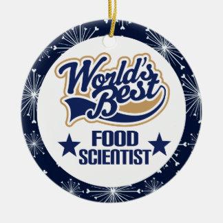 Ornamento del regalo del científico de la comida ornamentos de reyes