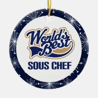 Ornamento del regalo del cocinero de Sous Ornamento Para Arbol De Navidad