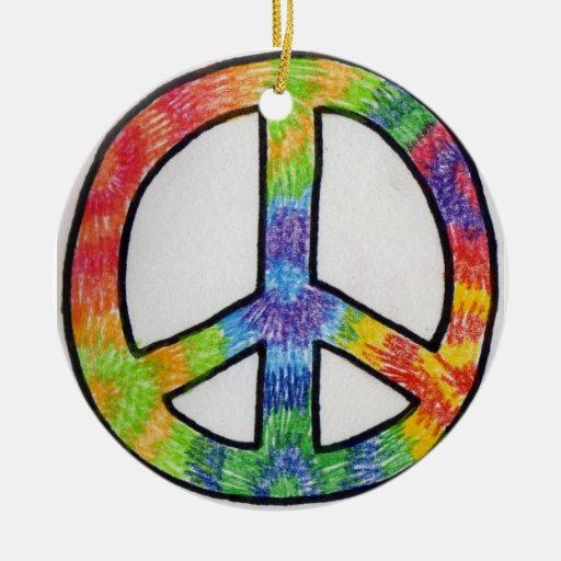 ornamento del signo de la paz adorno para reyes