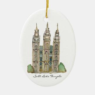Ornamento del templo de Salt Lake Ornamentos De Navidad
