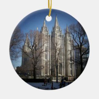 Ornamento del templo de Salt Lake Ornaments Para Arbol De Navidad