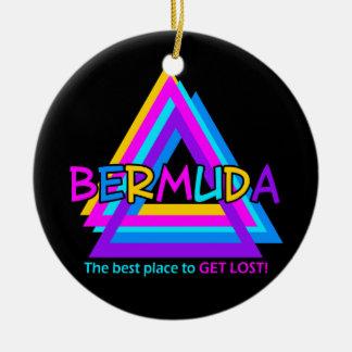 Ornamento del TRIÁNGULO de BERMUDAS - personalizar Adorno Redondo De Cerámica