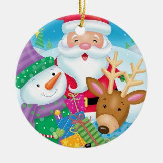 Ornamento del trío del amigo del navidad