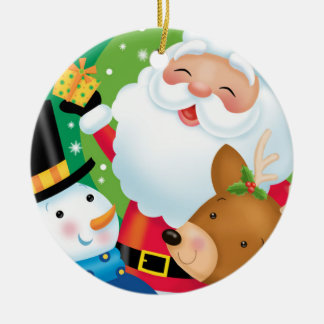 Ornamento del trío del navidad