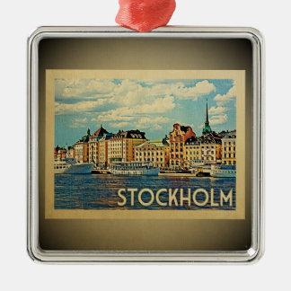 Ornamento del viaje del vintage de Estocolmo