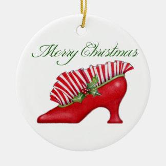 Ornamento del zapato del navidad ornamentos de reyes