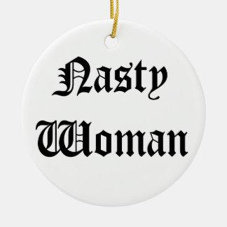 Ornamento desagradable del navidad de la mujer