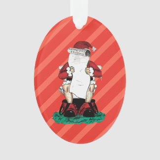 Ornamento divertido de Santa