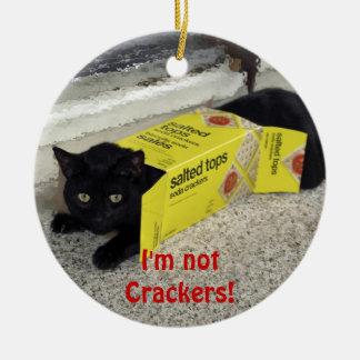 Ornamento divertido del día de fiesta del gato