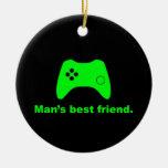 Ornamento divertido del videojugador del mejor ami ornamento para arbol de navidad