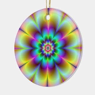 Ornamento eléctrico de la flor adorno redondo de cerámica