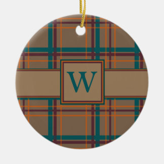 Ornamento elegante de la tela escocesa del otoño