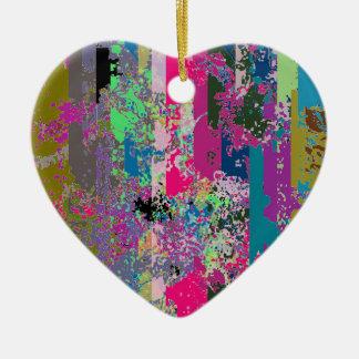 Ornamento en forma de corazón de la barajadura de adorno navideño de cerámica en forma de corazón
