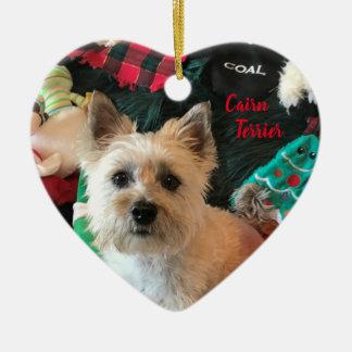 Ornamento en forma de corazón de Terrier de mojón
