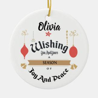 Ornamento encantado Editable del navidad