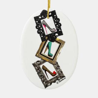 Ornamento enmarcado de los zapatos ornamento de navidad