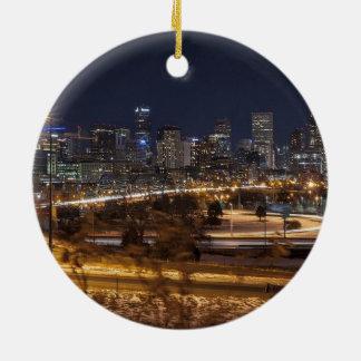 Ornamento escénico del navidad de Denver Colorado