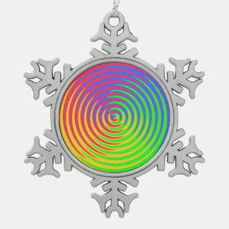 Ornamento espiral del copo de nieve del estaño del adornos