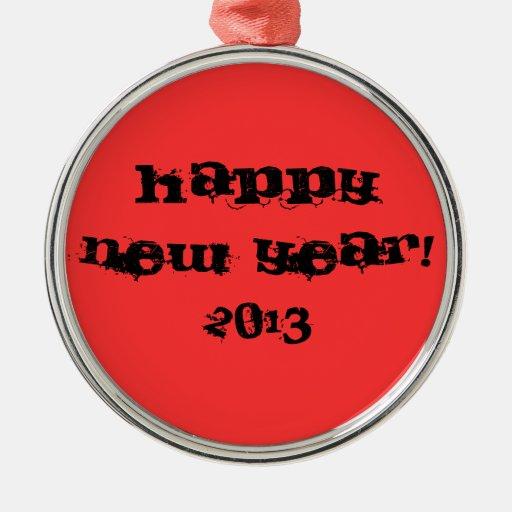 ornamento, Feliz Año Nuevo, 2013 Adornos De Navidad
