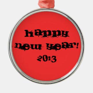 ornamento, Feliz Año Nuevo, 2013 Adorno Navideño Redondo De Metal