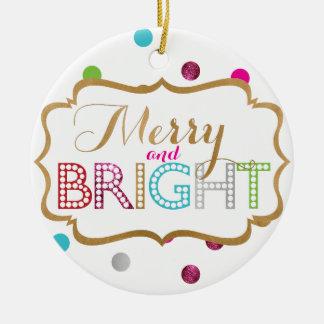 Ornamento feliz y brillante del navidad