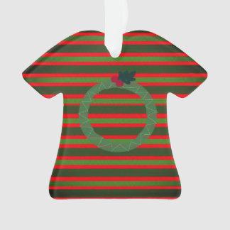 Ornamento feo del suéter del navidad