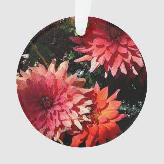 Ornamento floral rosado del navidad
