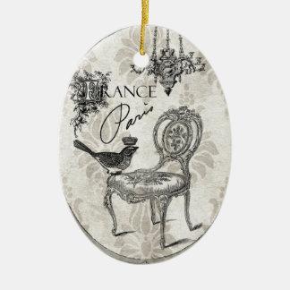 Ornamento francés de la silla del vintage adorno para reyes