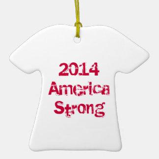 Ornamento fuerte 2014 del navidad de América Adorno De Reyes