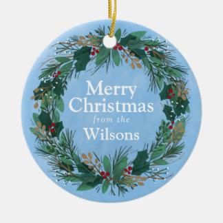 Ornamento glorioso del navidad de la guirnalda el