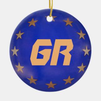 Ornamento griego del navidad de la unión europea