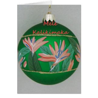 Ornamento hawaiano del navidad con la flor tarjetas