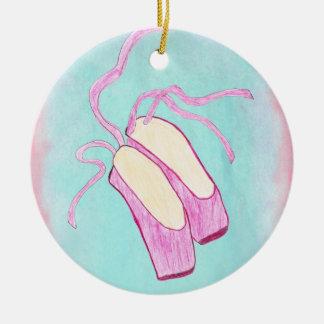 Ornamento hermoso de los zapatos de ballet ornamento para arbol de navidad