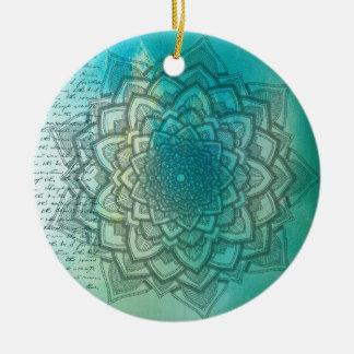 Ornamento hermoso del navidad de la mandala del