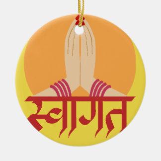 Ornamento hindú del saludo