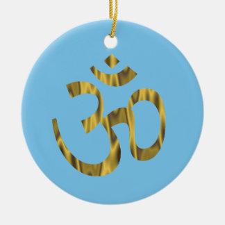 Ornamento hindú del saludo de OM del aum
