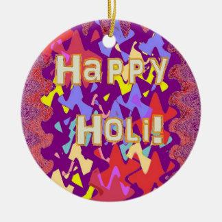 Ornamento hindú feliz del saludo de Holi