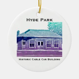 Ornamento histórico del teleférico de Hyde Park
