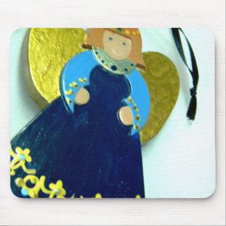 Ornamento I del ángel azul Alfombrilla De Ratón