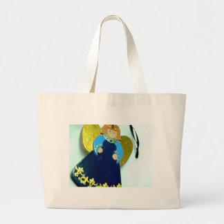 Ornamento I del ángel azul Bolsa Tela Grande