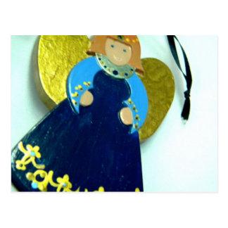 Ornamento I del ángel azul Postal