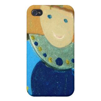 Ornamento II del ángel azul iPhone 4/4S Carcasas