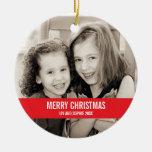 Ornamento intrépido del navidad rojo y blanco adorno