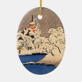 Ornamento japonés del navidad del vintage