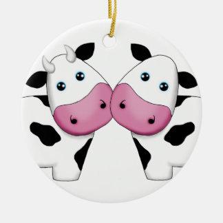 Ornamento lindo de los pares de la vaca