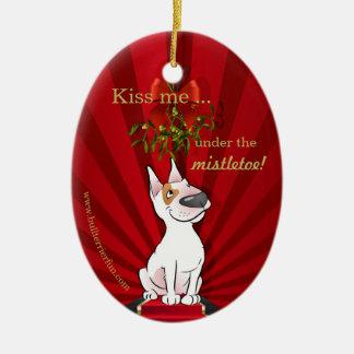 Ornamento lindo del navidad de bull terrier del