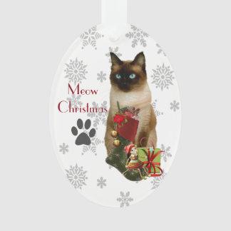 Ornamento lindo del navidad del gato siamés