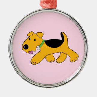 Ornamento lindo del premio del perro de perrito de